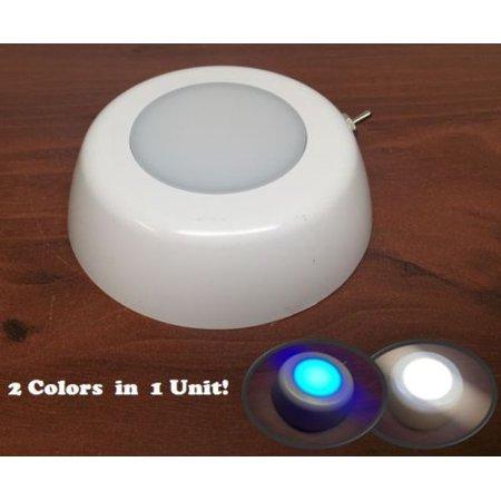 Marine Boat Warm White & Blue LED Ceiling Light Glare Free Lens PC Housing Nacre Drop Ceiling Housing