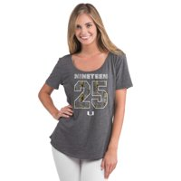 Miami Hurricanes Let Loose by RNL Women's La Jolla T-Shirt - Charcoal