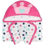 Gerber Baby Girl Terry Hooded Bath Towel, 3D Princess