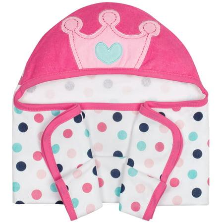 Gerber Baby Girl Terry Hooded Bath Towel, 3D Princess - Hot Girl In Towel