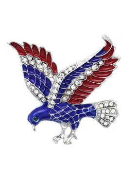 d64144144 Product Image cocojewelry 4th of July American Flag Design Eagle Pin Brooch  Independence Day Gift