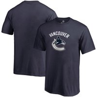 Vancouver Canucks Fan Big Logo T-Shirt - Navy