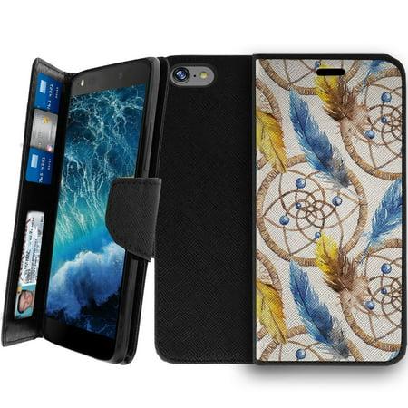 Wallet Case For Apple Iphone 7 4 7    Magnetic Shut Folio Case For Iphone 7  Apple Iphone 7 Leather Case  Clip Folio  Kickstand Secure Id Case Case   Dream Catcher