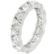 Silver Tone Trillion Fashionista Ring- Size- 10