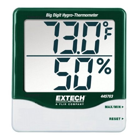 Extech 445703 Big Digit Hygro-Thermometer with (Extech Hygro Thermometer)