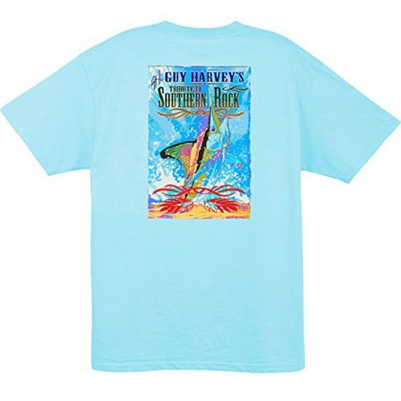 Guy Harvey Bull Dolphin - Guy Harvey Mens Blackhawk Short Sleeve T-shirt