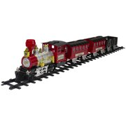 24-Piece Battery Operated Lighted and Animated Christmas Train Set with Sound
