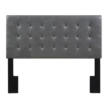 Faux Leather Biscuit Tuft Full / Queen Upholstered Headboard in Lummus