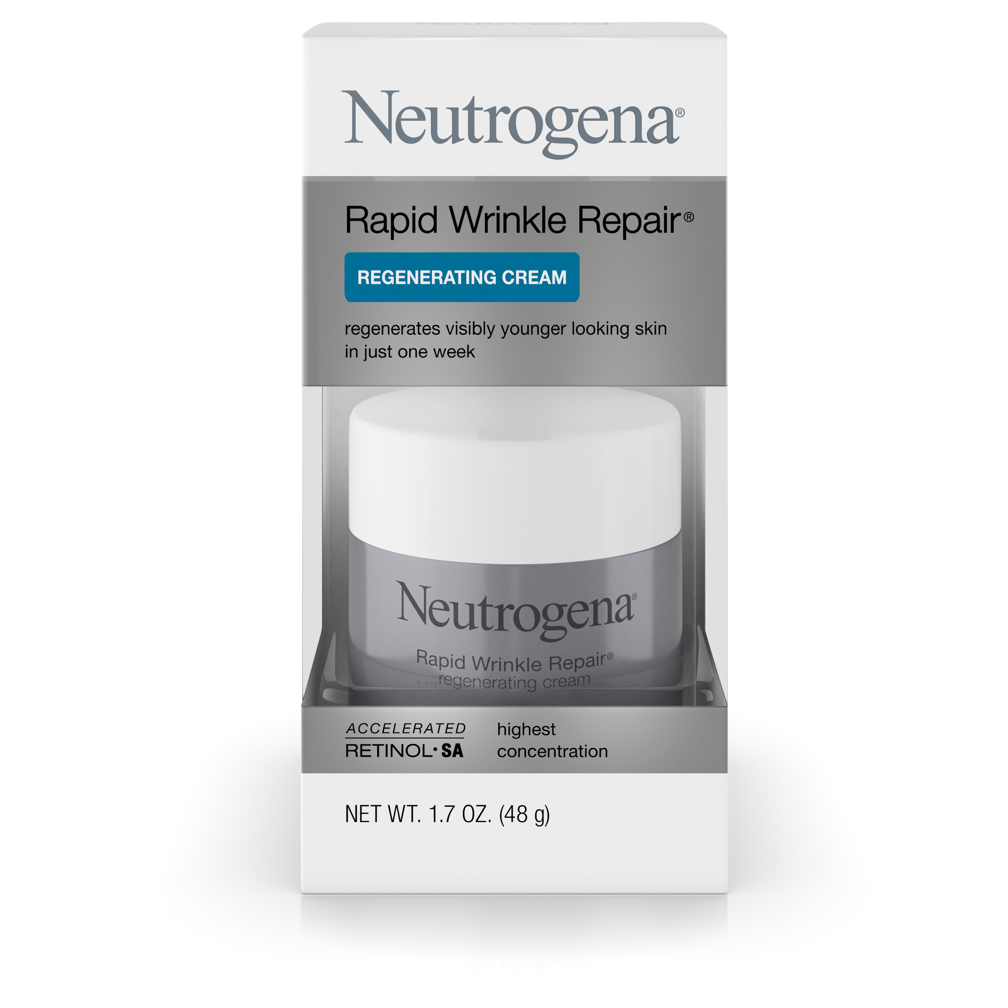 Neutrogena Rapid Wrinkle Repair Regenerating Cream, 1.7 Oz - Walmart.com