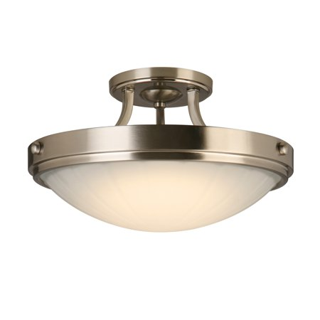 Design House 579102 Amery LED Semi-Flush Ceiling Light, Satin - Lid Satin