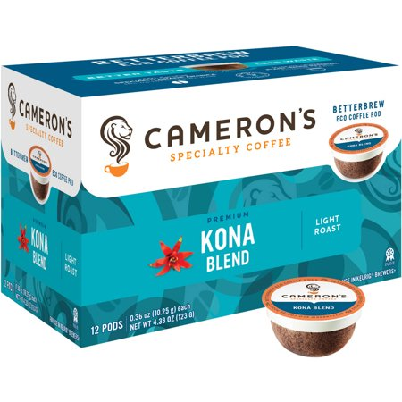 Cameron's Specialty Coffee Kona Blend Single Serve Pods, 12