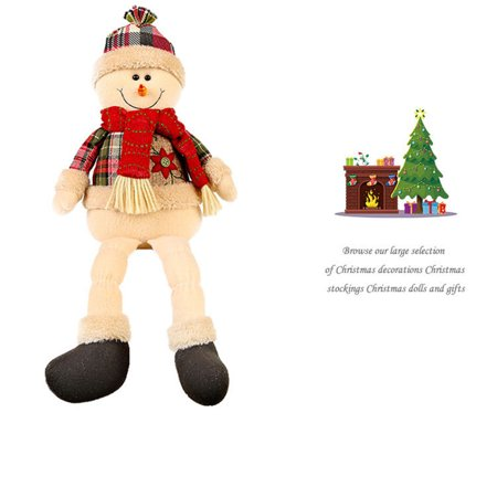 Christmas Santa Claus Snowman Deer Stuffed Toys Plush Toy Doll Christmas gift - Santa Claus Plush