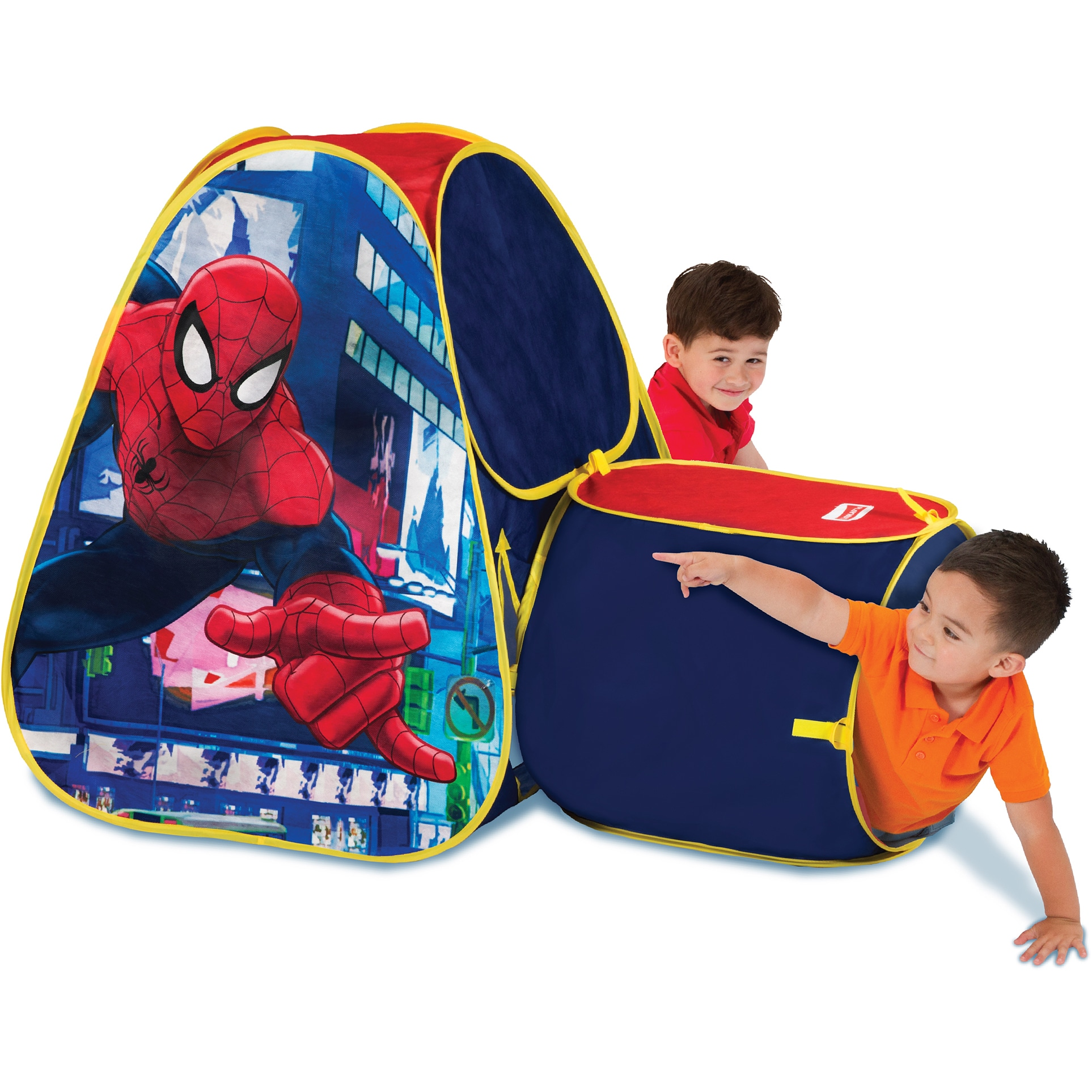 Play Hut Playhut Hide About Spider Man Tent With Tunnel