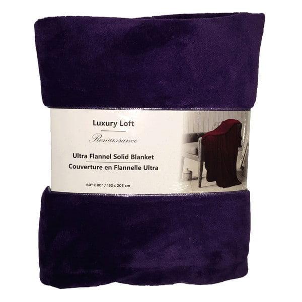 Linen Depot Direct Ultra Flannel Throw Blanket - Mauve