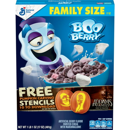 Monsters Cereal, Boo Berry, 17oz