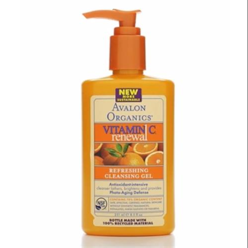 Avalon Organics Intense Defense with Vitamin C Cleansing Gel 8.50 oz (Pack of 4)