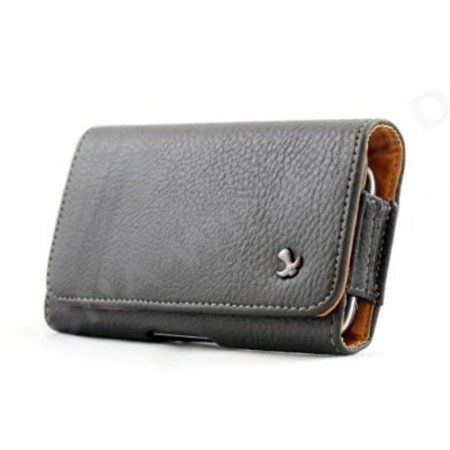 Design Black Leather Pebbled Texture Horizontal Belt Loop Magnetic Closing Flap Pouch Case for LG Rumor Reflex LN272 LG Xpression C395C LG Freedom LG Converse AN272,.., By Importer520,USA