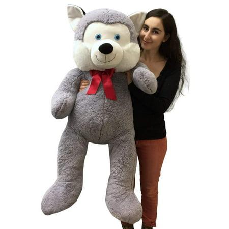 5 Foot Giant Stuffed Husky Dog 60 Inch Soft Big Plush Stuffed Animal