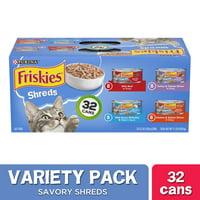 Friskies Gravy Wet Cat Food Variety Pack, Savory Shreds - (32) 5.5 oz. Cans