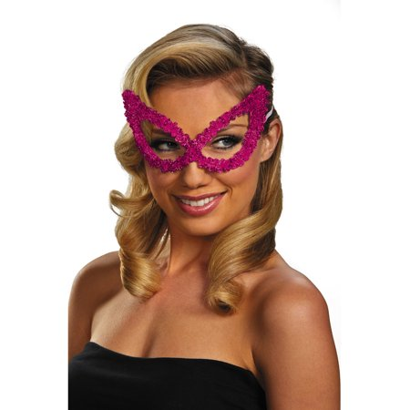 Adult Pink Masquerade Ball Costume Accessory Elegant Large Sequin - French Masquerade Costume