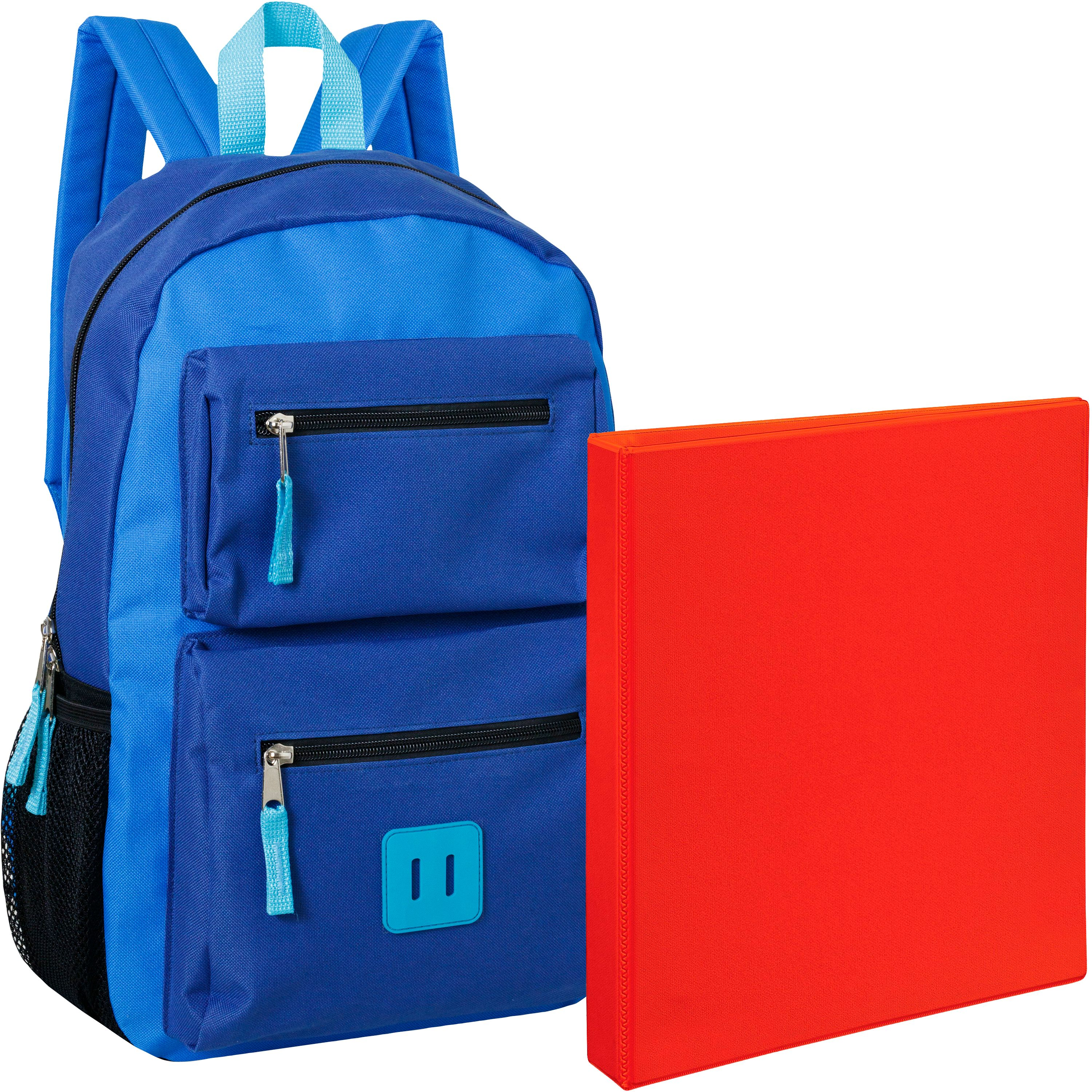 "18 Inch Double Pocket Backpack and Avery Heavy Duty View 1.5"" Binder Bundle"