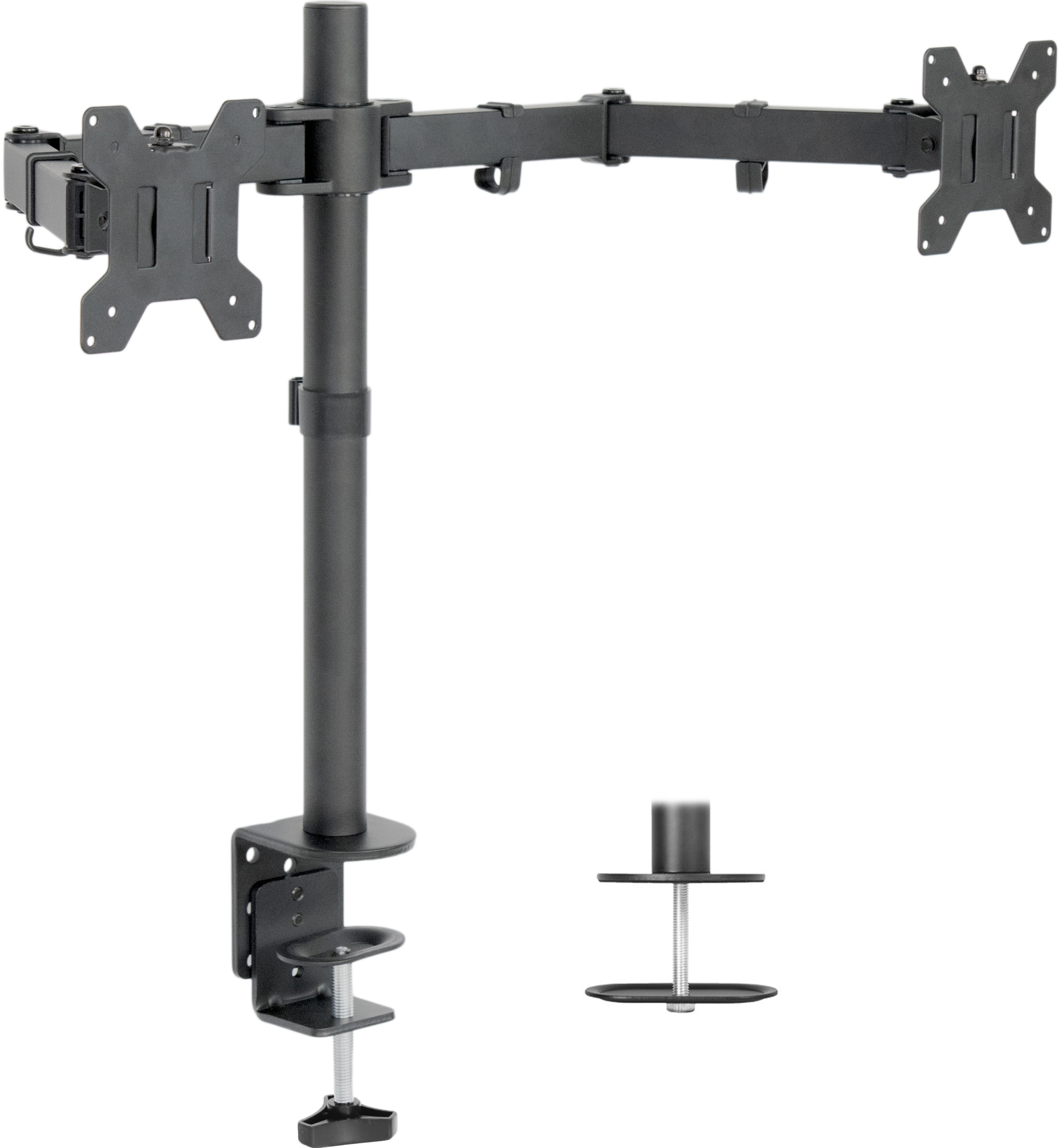"VIVO Dual LCD Monitor Desk Mount Stand Heavy Duty Fully Adjustable fits 2 Screens up to 27"" ~ (STAND-V002)"
