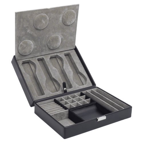 WOLF Heritage 4 Piece Watch Box with Valet