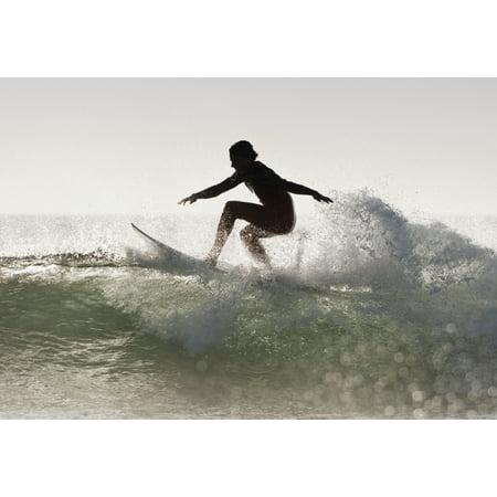 Posterazzi Wakeboarding Los Lances Beach Tarifa Spain Canvas Art - Ben Welsh Design Pics (36 x 24)