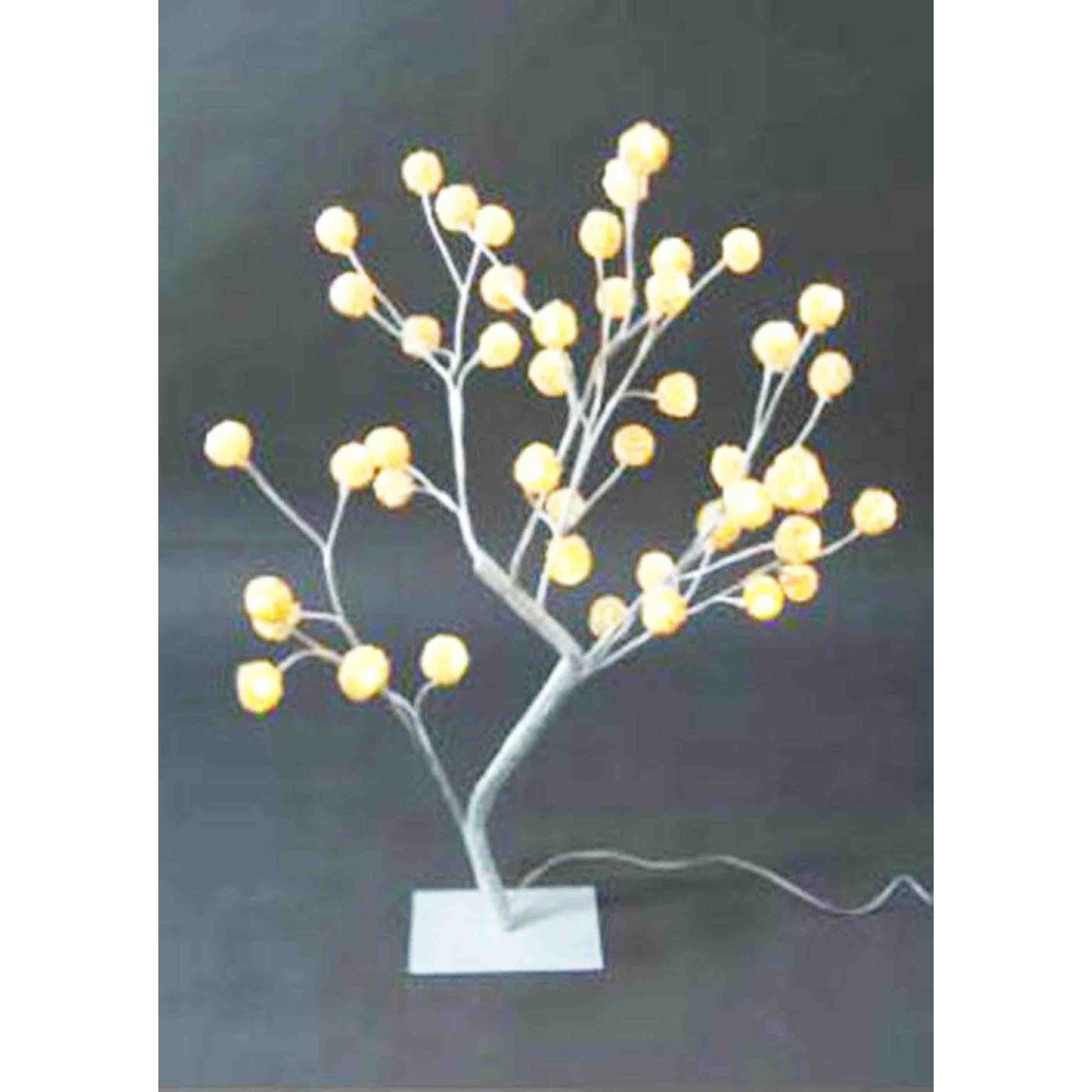 Creative Motion Industries 17.71 in. Rattan Ball Tree Table Lamp