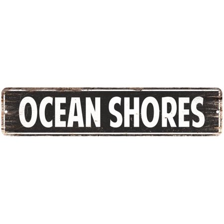 Ocean Shores Vintage Look Personalized Metal Sign Chic 4x18 104180008171