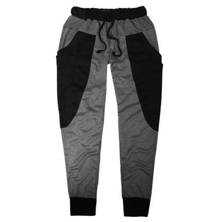 Unique Bargains Men's Panel Big Pockets Fashion Harem Pants Dark Gray (Size M / W34) - image 3 of 7