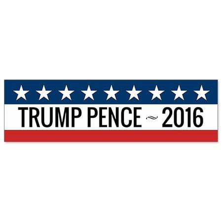Car Bumper Sticker   Donald Trump Mike Pence 2016