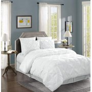 Chezmoi Collection Berlin 3-Piece Pinch Pleated Pintuck Comforter Set