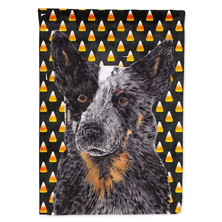 Australian Cattle Dog Candy Corn Halloween Portrait Garden Flag](Woolworths Australia Halloween)