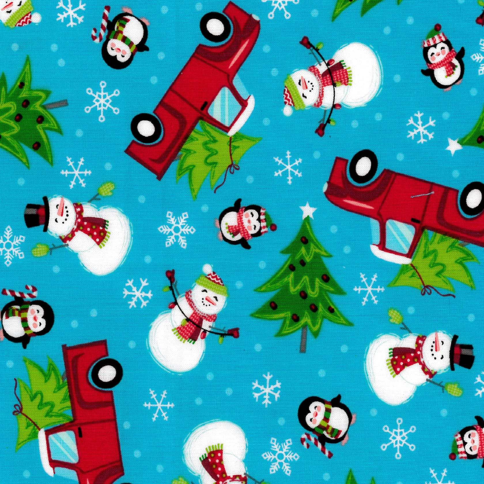 Christmas, Holiday Fabrics, Cars-Blue, 100% Cotton Print Fabric 44'' Wide, 140 Gsm, Quilt Crafts Cut By The Yard, RTC Fabrics