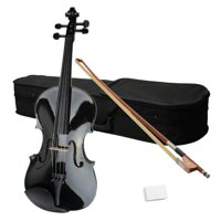 Ktaxon 15 inch 16 inch Brown Basswood School Student Acoustic Viola with Case Rosin Bow