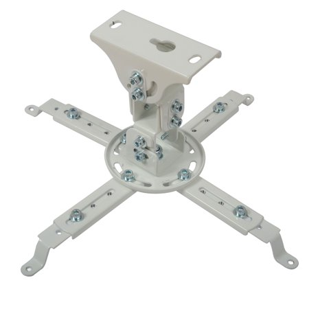 VideoSecu Tilt LCD DLP Ceiling Projector Mount with Swivel and Rotate Bracket White fits Flat and Vaulted Ceiling BSL