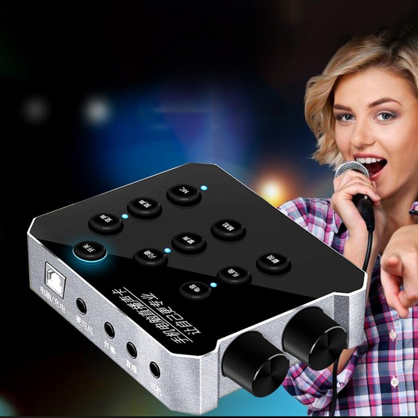 Mobile phone sound card computer USB live set outdoor anchor device universal