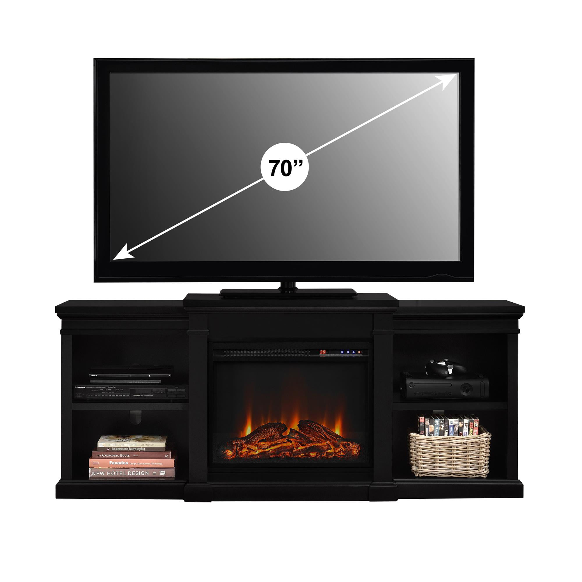 Wondrous Ameriwood Home Manchester Electric Fireplace Tv Stand For Tvs Up To 70 Multiple Colors Beutiful Home Inspiration Ommitmahrainfo