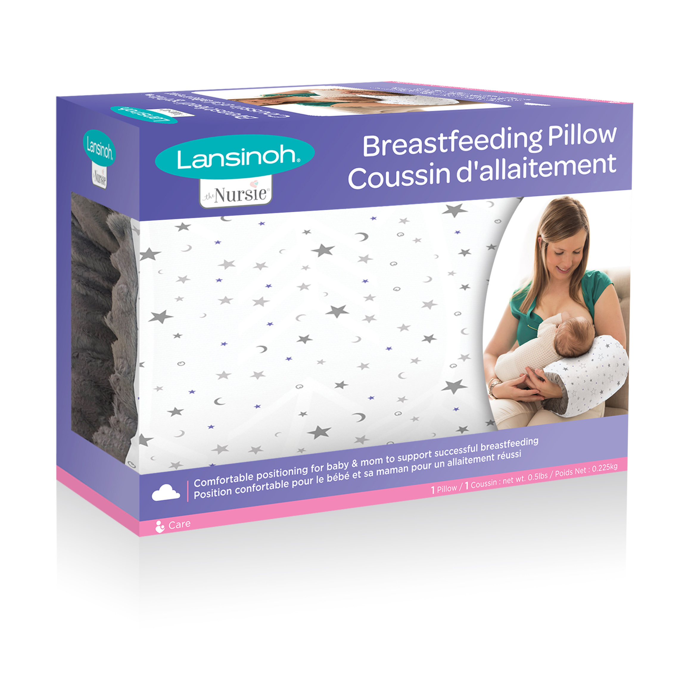 Lansinoh Nursie Breastfeeding Pillow, Ideal for C-Sections, Compact, Portable, and Washable Nursing Pillow by Lansinoh