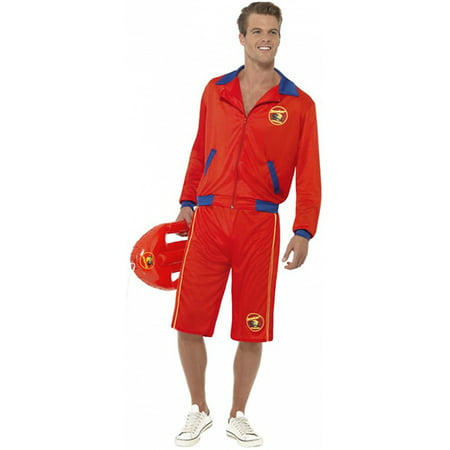 Baywatch Beach Menand#039;s Lifeguard Adult Costume - Large - Baywatch Halloween Costume