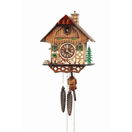 "Schneider 11"" Black Forest Wood Chopper Eight Day Movement Cuckoo Clock"
