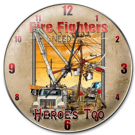 The Linemans Factory LMF005 14 in. Fire Fighters Need Heroes (Lineman Chain)