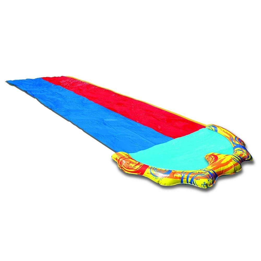 Click here to buy Banzai Splash Sprint Waterslide with 16 Foot Dual Racing Lanes and Splash Pool ( Adventure Summer & Spring Toy Backyard... by Banzai.