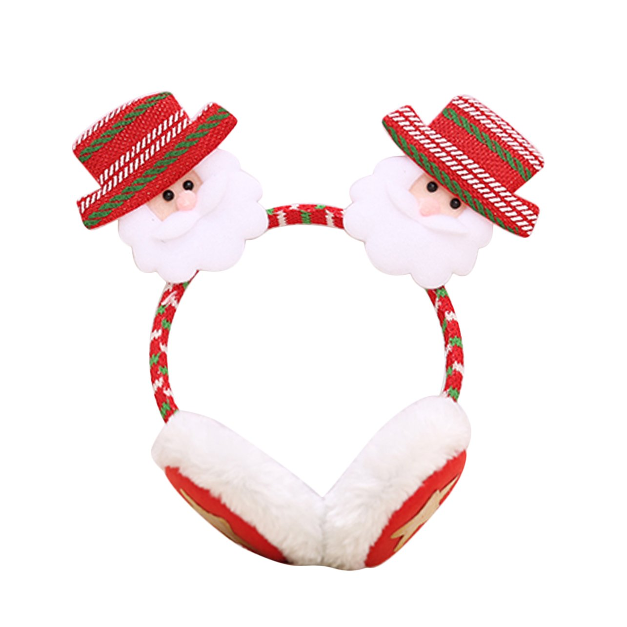 Christmas Headband Earmuffs Headdress Party Decor Warm Earcap Winter Ear Muffs