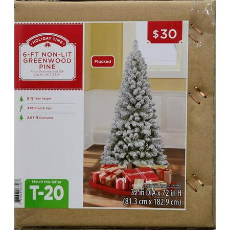 6FT GREENWOOD ARTIFICIAL TREE - 6FT GREENWOOD ARTIFICIAL TREE - Walmart.com