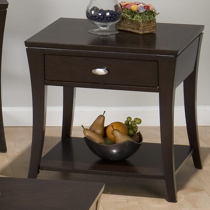 Jofran 629-3 Manhattan Espresso Square End Table by