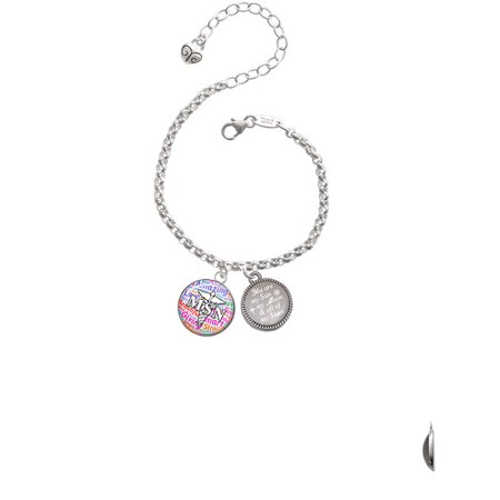 Silvertone Domed Multi Color Msn You Are My Sun  My Moon  And All Of My Stars Engraved Bracelet