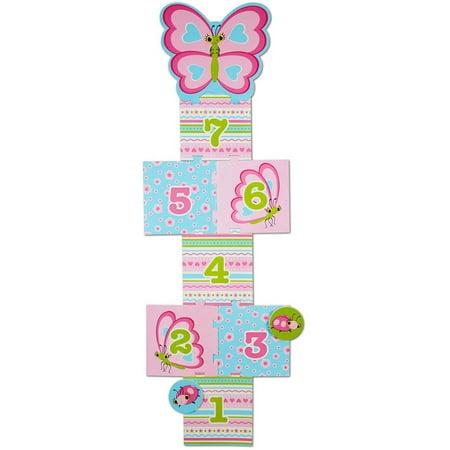 Hopscotch Rugby - Melissa & Doug Sunny Patch Cutie Pie Butterfly Hopscotch Action Game - 8 Foam Pads