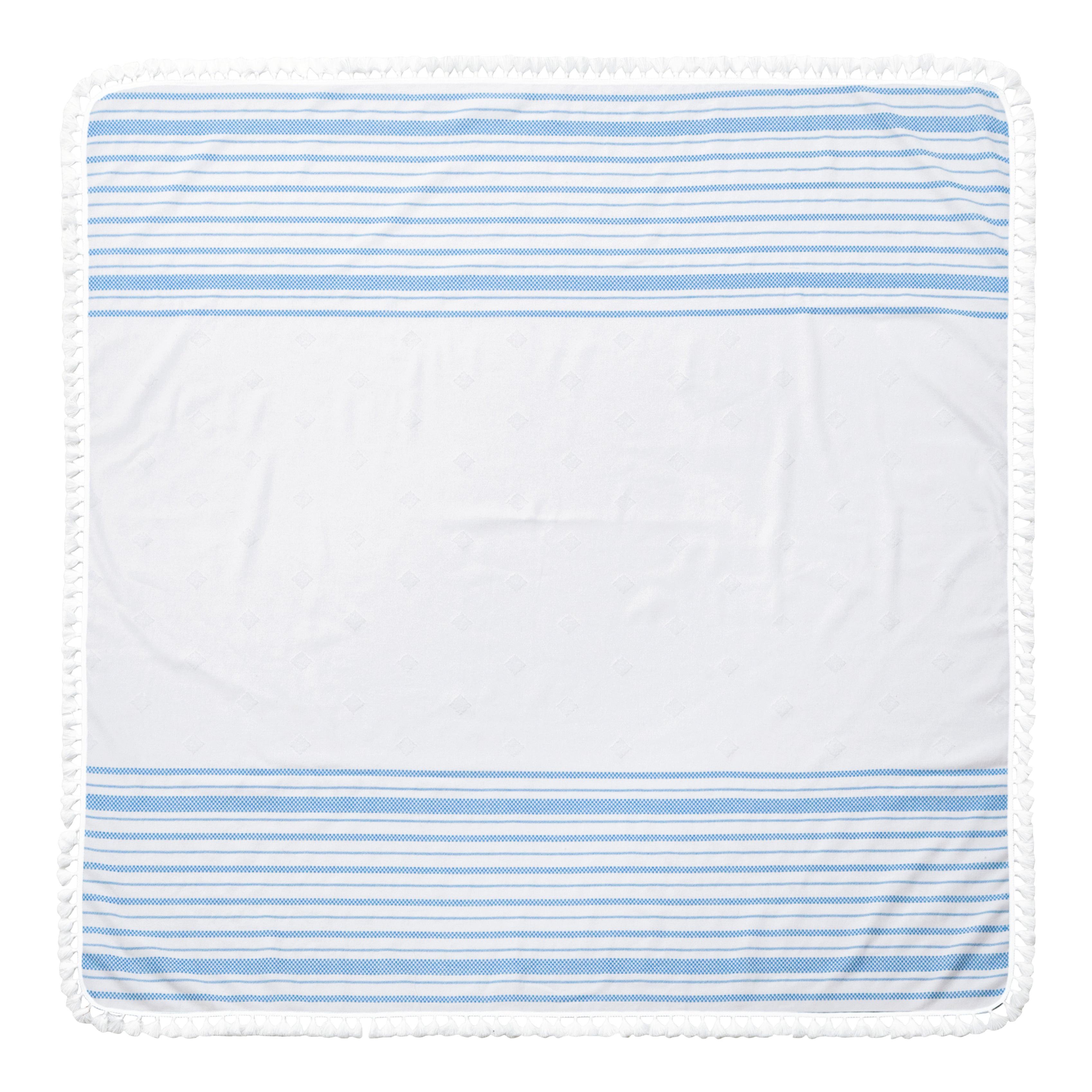 Enchante Home Arlo Turkish Cotton 60-inch Square Beach Towel